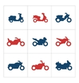 Set color icons of motorcycles vector image