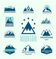 set of mountain exploration vintage emblems vector image