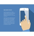 Smart phone with hand vector image