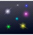 Stars and sparkles - collection of design elements vector image