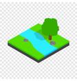 river landscape isometric icon vector image