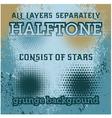 set of halftone on the grunge background vector image
