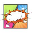 Retro comic book page steam bubble vector image