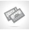 Seascape postcards line icon vector image