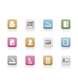 print industry icons vector image vector image