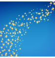 golden star flowing background vector image
