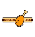 Fried chicken fast food restaurant thin line icon vector image