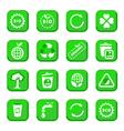 environmental icon set vector image