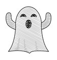 ghost cartoon icon image vector image