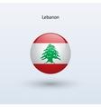 Lebanon round flag vector image