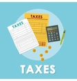 Pay taxes graphic design vector image
