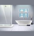 realistic bathroom interior vector image