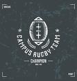 Rugby team ball emblem vector image