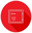 Safe icon Sleek design vector image
