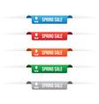 Spring sale paper tag labels vector image