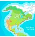 North America Mainland Cartoon Relief Map vector image