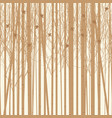background birch trees with birds vector image