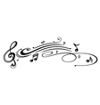 Musik musik notes vector image vector image