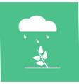 icon rain and bush vector image vector image