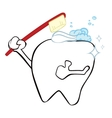Cleaning tooth vector image vector image