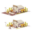 low poly warehouse vector image vector image