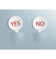 signs with the words yes and no vector image