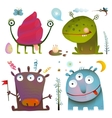 Fun Cute Little Monsters for Kids Design Colorful vector image vector image