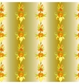 Yellow iris flower seamless pattern background vector image