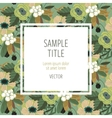 Cute invitation template with flower decoration vector image