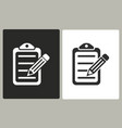 clipboard pencil - icon vector image