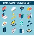 Data analysis icons vector image