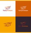 flying envelopes vector image
