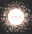 its party time poster colorful confetti frame vector image