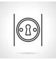 Keyhole on door simple line icon vector image
