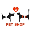 pet shop symbol with pets vector image