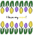 Postcard With Tulip 2 vector image