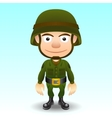 Soldier character vector image