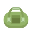 Sports bag icon flat style Gym isolated on white vector image