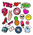 Fashion Badges Patches Stickers Girls Elements vector image