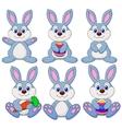 Rabbit carton set vector image