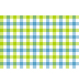 Green blue check fabric texture background vector image
