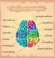 cartoon human brain concept vector image