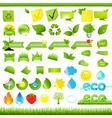 Eco Set vector image vector image