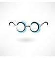 eyeglasses grunge icon vector image