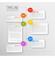Infographic timeline report template vector image vector image
