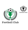 Football Club Championship crests vector image vector image