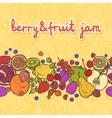 Fruits and berries border horizontal vector image vector image