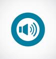 sound icon bold blue circle border vector image