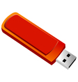 usb flash memory isolated on white background vector image
