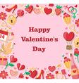 Decorative Valentine background vector image